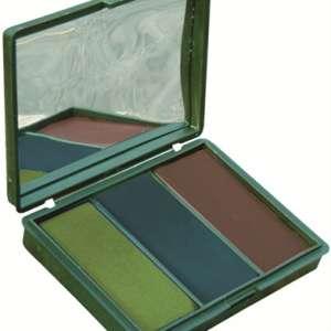 Kit de camouflage « Woodland » 3 couleurs avec miroir. Pack de 30.