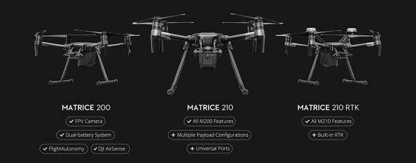la gamme Matrice 200 - 210 - RTK