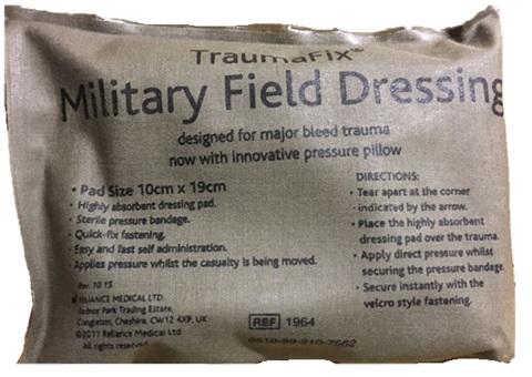 Grand bandage « Urgence » compressif stérile.