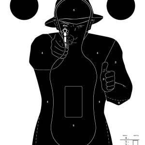Cible silhouette Police 51x71cm - Paquet de 100.