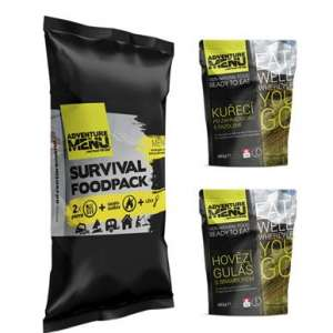 Rations humides. Survival FoodPack - Menu 1 Auto-chauffant - 6 ans