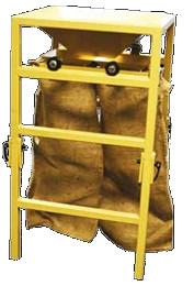 Système de remplissage pour sac de sable.