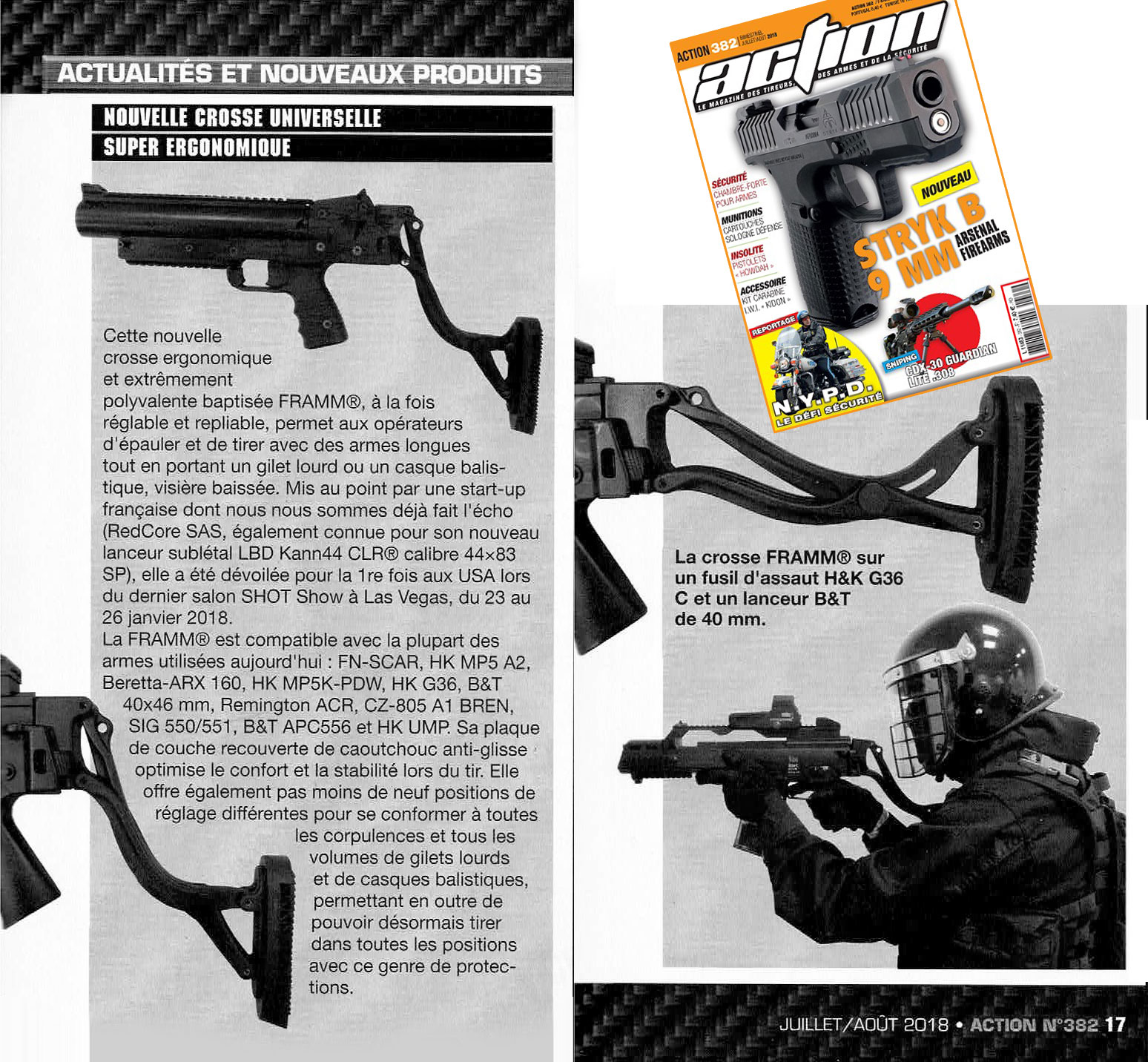 Article Magazine Action Framm