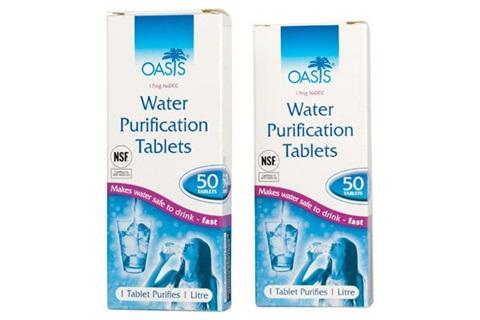 Comprimés pour purification de l'eau. Pack de 10.