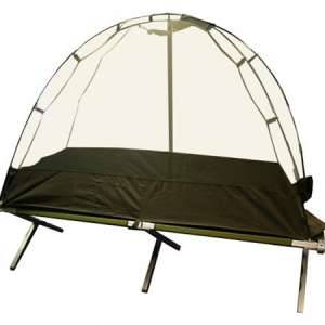 Moustiquaire imprégnée pour lit de camp.