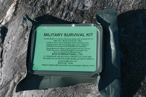 Kit de survie « Militaire». Pack de 10.