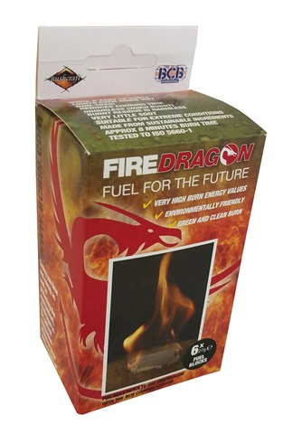 Gel éthanol FireDragon solide. Pack de 60.