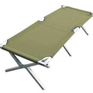 Lit de camp conçu pour les opérations de déploiement, l'entraînement et d'autres utilisations militaires sur le terrain.