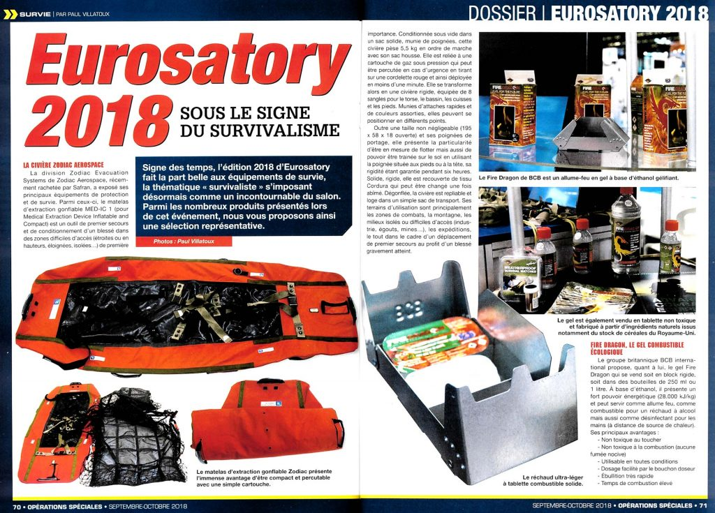 Eurosatory 2018 article Magazine opérations spéciales