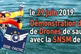 Démonstration de vol de drones de sauvetage avec la SNSM de Brest