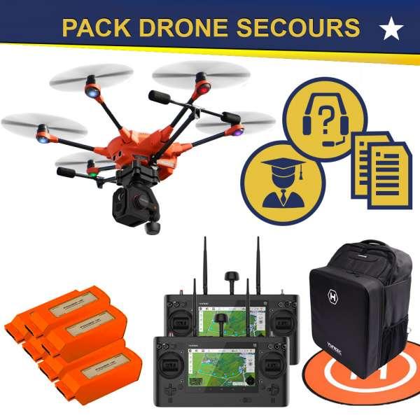 Sélection drone, caméra, accessoire, accompagnement pour les secours