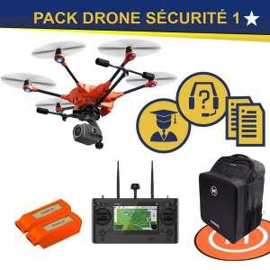 Pack drone, caméra, accessoire, accompagnement pour la sécurité